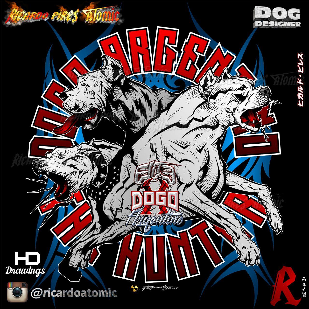 Dogo Argentino The Hunter Elite Dogo Argentino The Hunter Dogo Argentino Designs By Ricardo Pires Ricardoatomic Do Dogo Argentino Bulldog Mascot Sketch Design