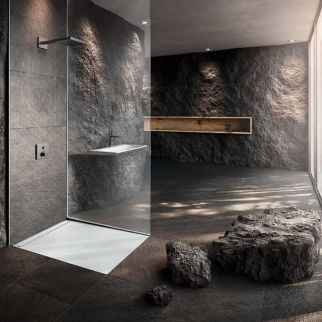 Interior Design Using Different Materials Follow Us Engineeringandarchitecture Interiord Modern Bathroom Design Minimalism Interior Bathroom Interior Design