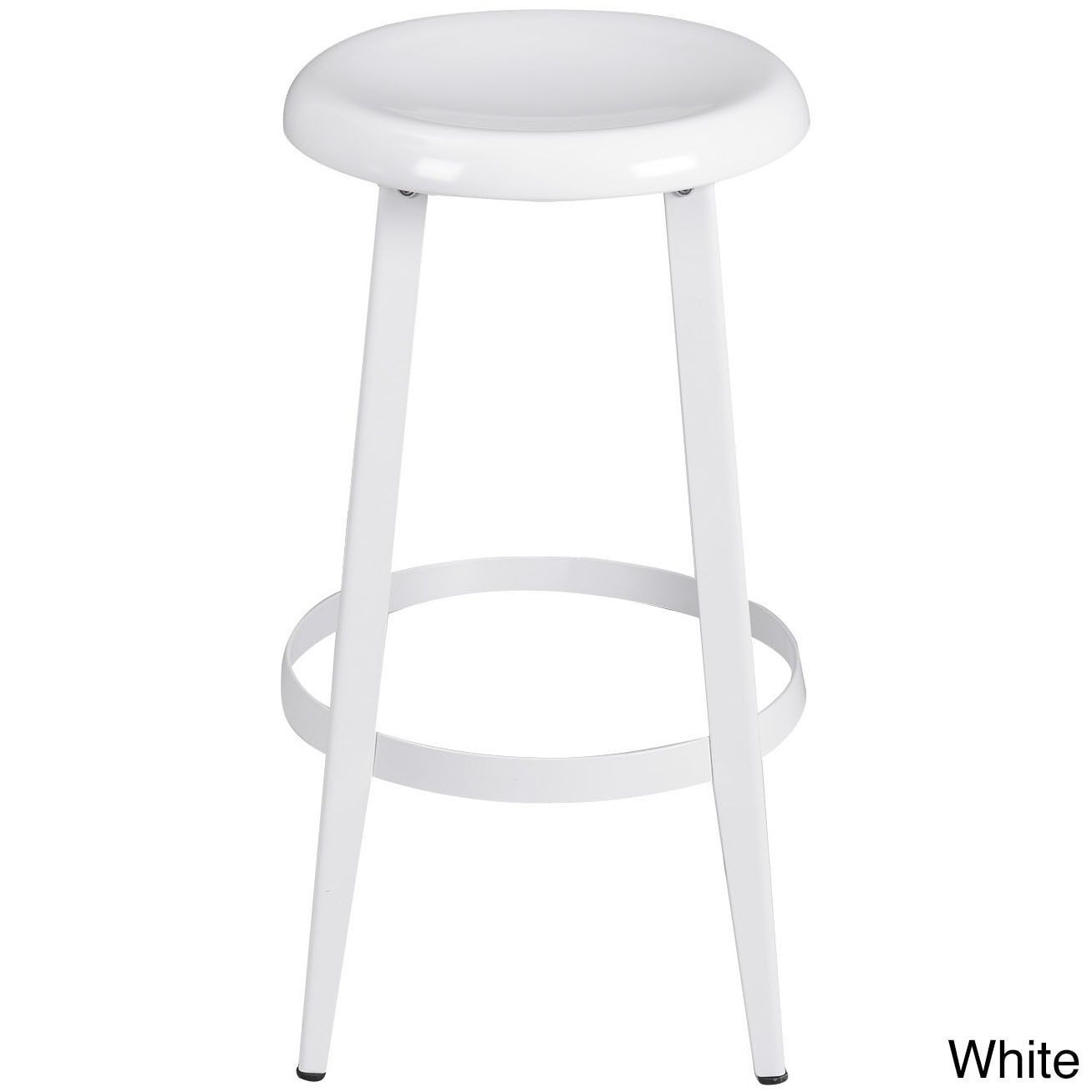 Adeco Metal Round Top Backless 25 Inch High Stools Red Pinterest