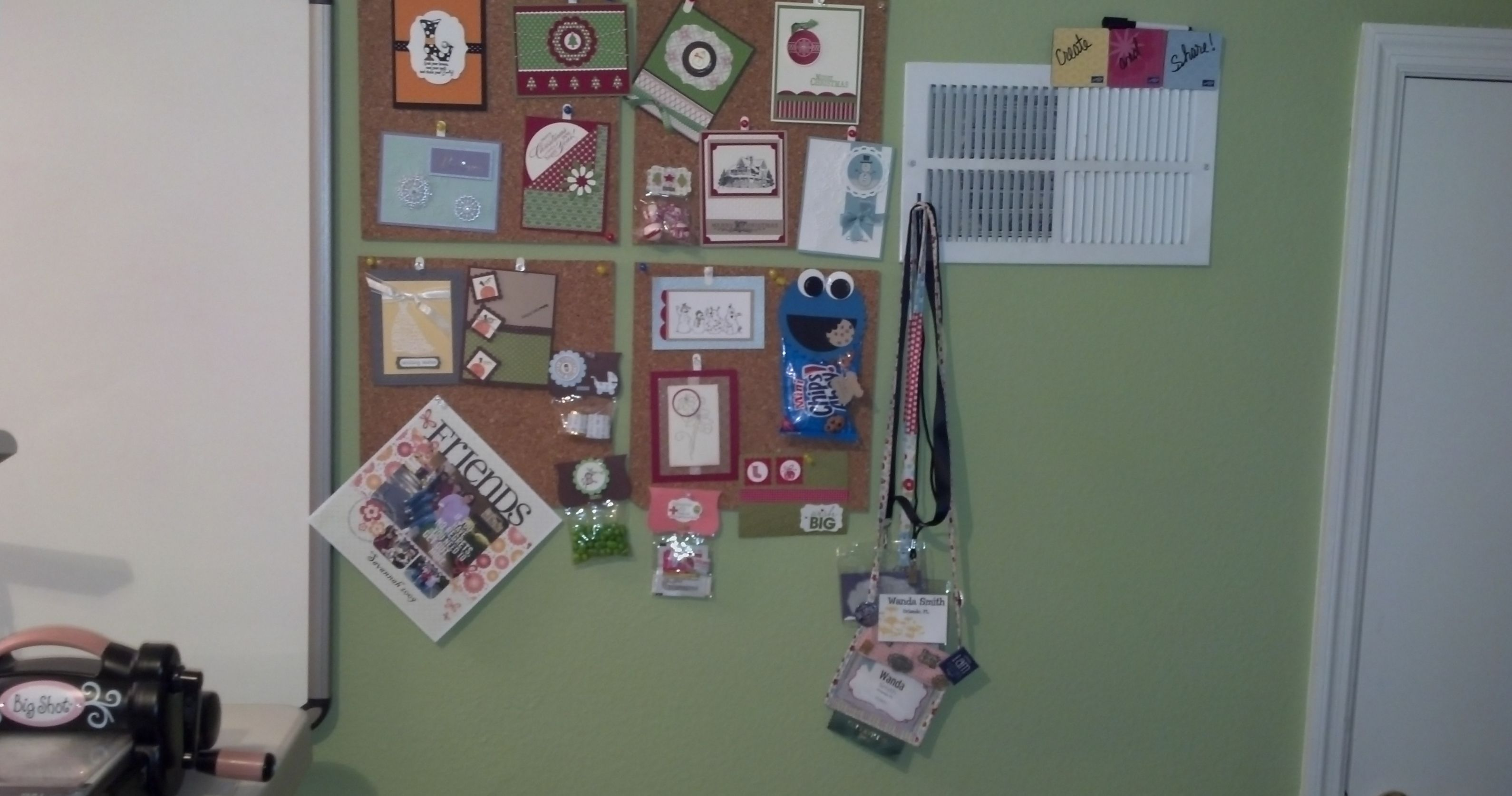 One of my sample boards