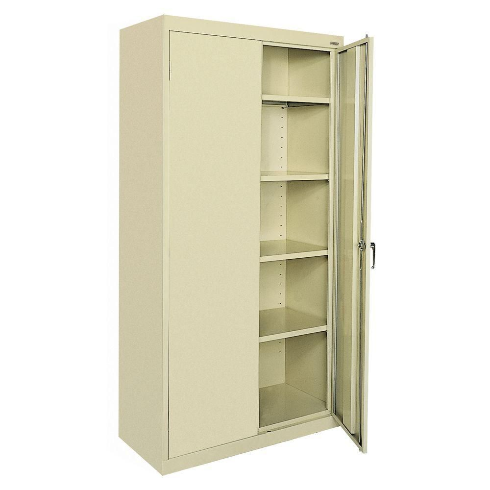 Classic Series 36 Inch W X 72 Inch H X 18 Inch D Storage Cabinet With Adjustabl With Images Metal Storage Cabinets Steel Storage Cabinets Locking Storage Cabinet