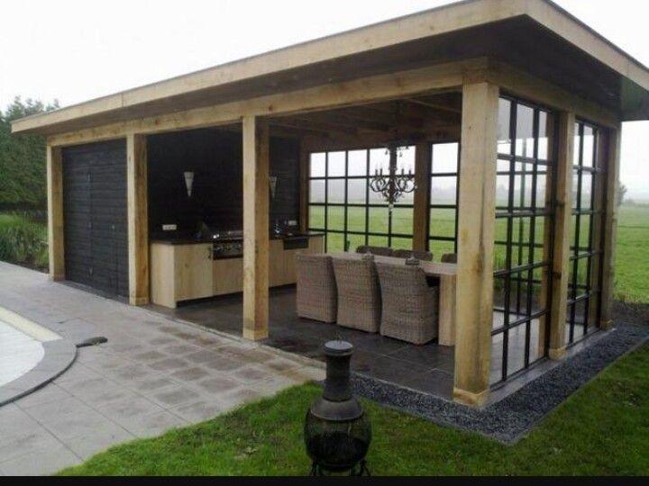 Verwonderend veranda #glaswand #keuken (With images)   Outdoor kitchen design UM-49