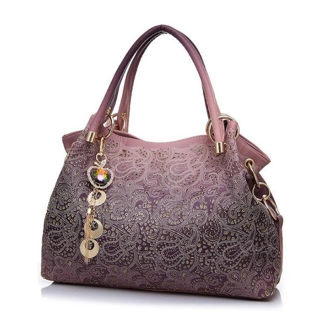 7e49c20a52 VORMOR Hollow Out Large Leather Tote Bag Luxury Women Shoulder Women Brand  Handbag