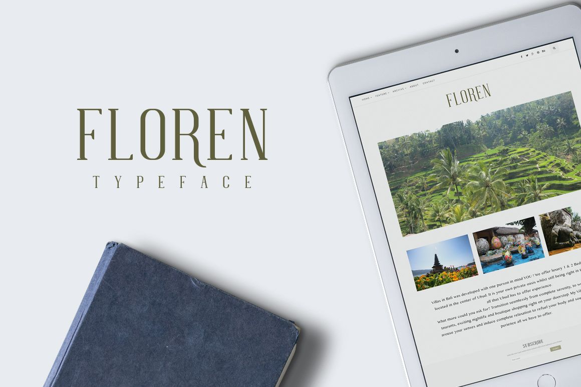 FLOREN TYPEFACE by alit design on @creativemarket