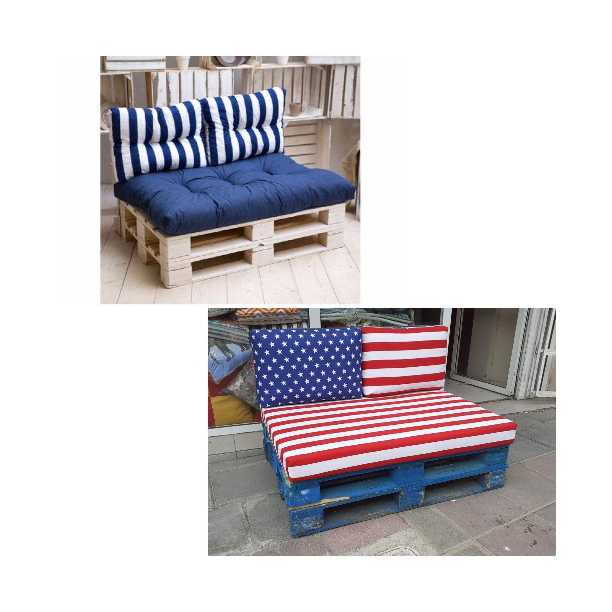 Pallet Cushions With Water Resistant Fabric Customizable Etsy In 2020 Pallet Cushions Cushions Palette Bed