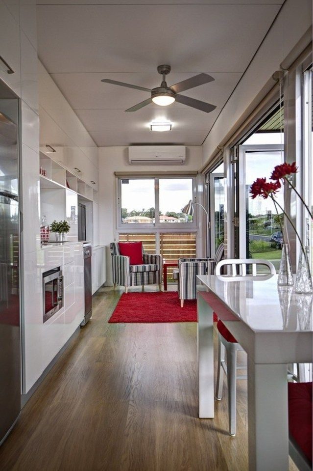 Tiny Home Designs: Modular Shipping Container Home Offers The Perfect Floor