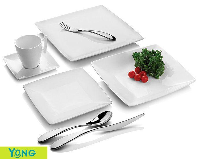 Servies Porselein Aanbieding.Serviesset 20 Delig Yong Squito Aanbieding Porselein Vierkant