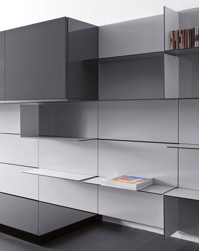 Sistema modulare librerie modello people pianca for Mobili italiani design
