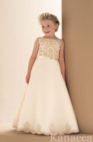 gold wedding dresses | Wedding Flower Girl Dress (KT2021) | flower ...