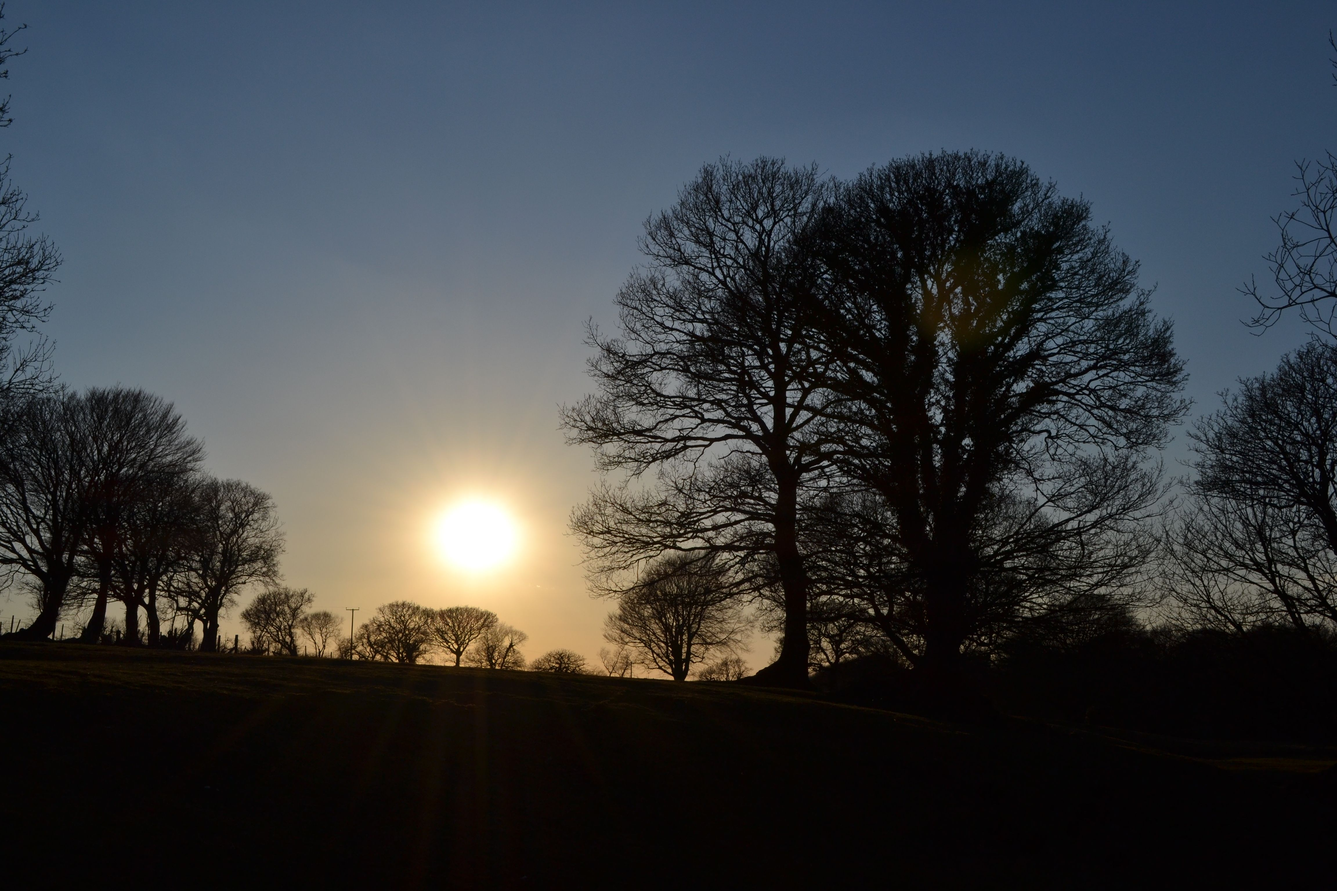 Sunset in Pembrokeshire from our garden (2)