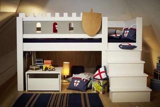 Spielbett BURG DeLuxe, weiß | Kinderzimmer | Pinterest | Spielbett ... | {Spielbett 33}
