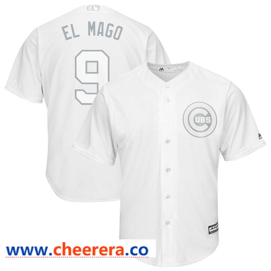 cheaper 5e275 241ee MLB Men's Chicago Cubs #9 Javier Baez El Mago White 2019 ...