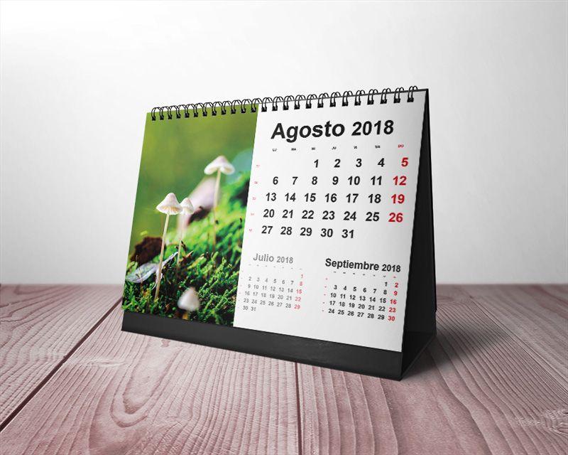 Plantillas gratis calendarios de mesa 2018 para imprimir - Calendario de mesa ...
