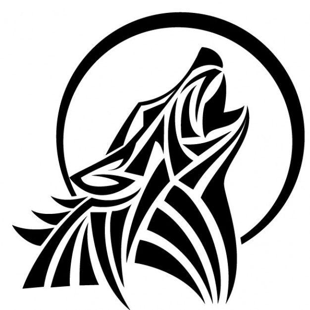 howl wolf vector tribal style  free vector freepik