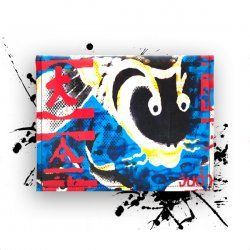 Apple iPad Sleeve *Koi*. Canvas + Woolfelt. NO PLASTIC! Made in Germany. COLOR ROCKs