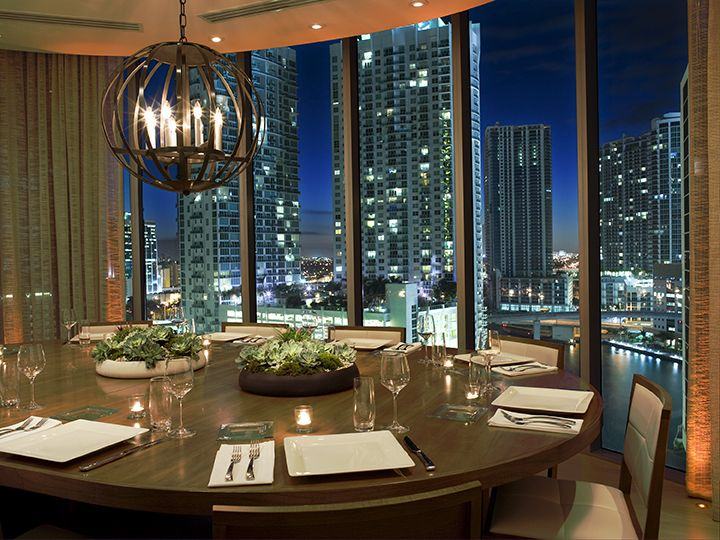 Private Dining Room Design Of Area 31 Restaurant Downtown Miami