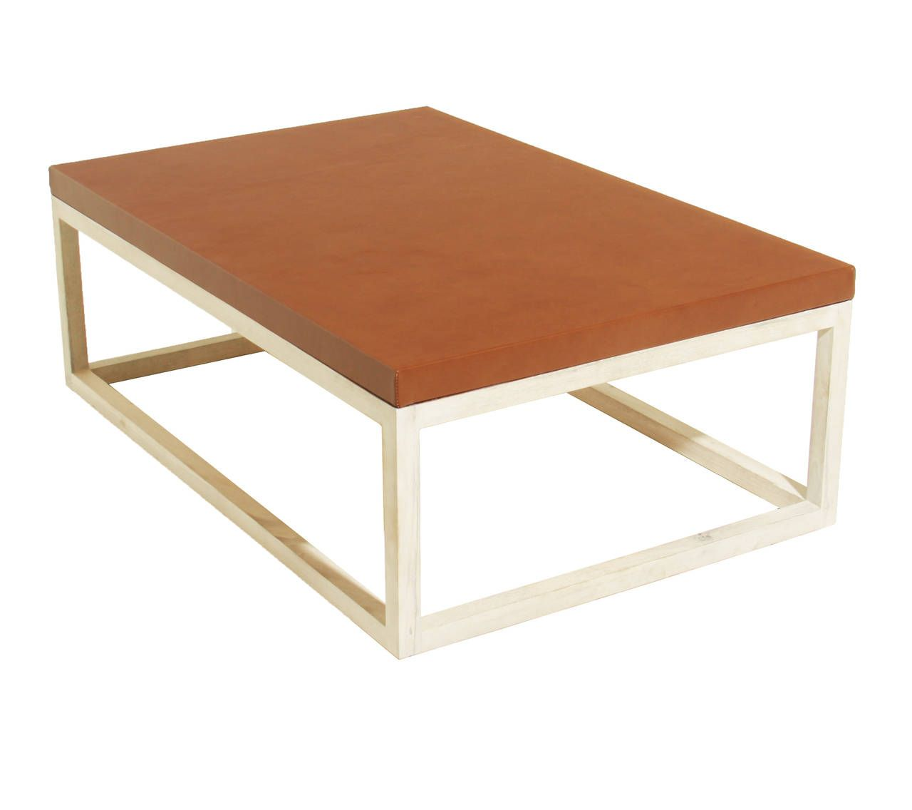 The Basic Leather Coffee Table By Thomas Hayes Studio Los Angeles Ca