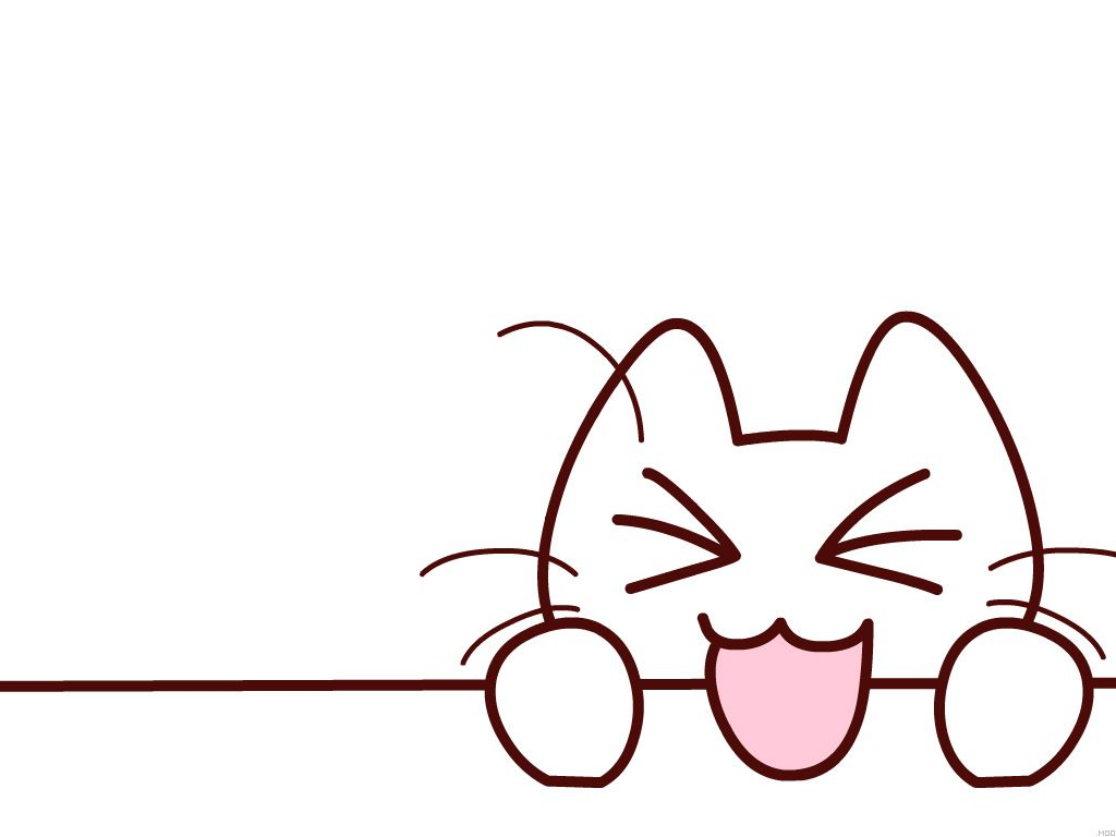 Cute Cat Drawing Wallpaper