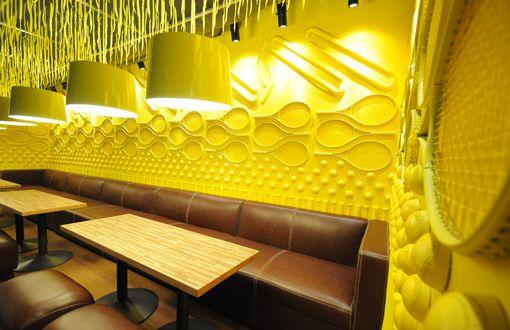 Kick zone restaurant b designers wall decorate