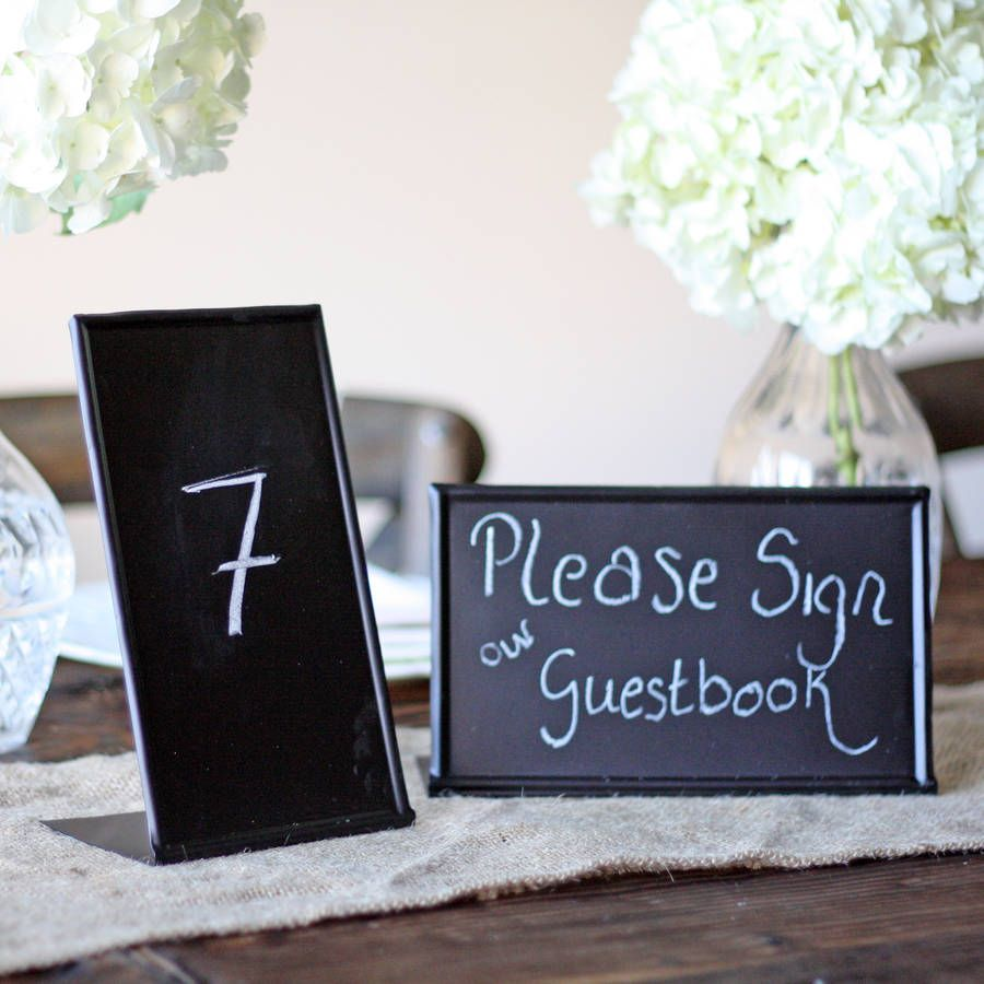 Blackboard sign free standing blackboards table numbers and