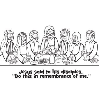last supper coloring page - free easter recipes and crafting activities for kids