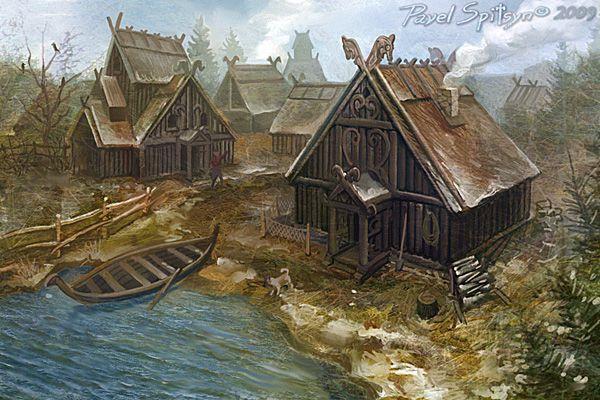 Northern village by ~CG-Zander on deviantART