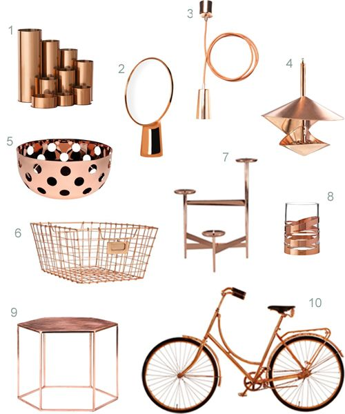 copper home accessories 1 For the Home Pinterest Copper