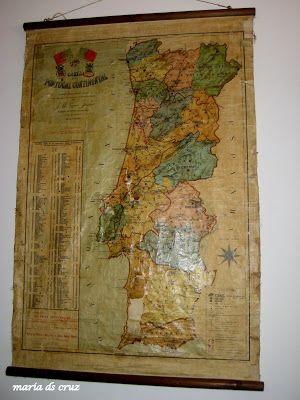 objetosdoutrostempos: Bem antigo, mas é o mapa de Portugal