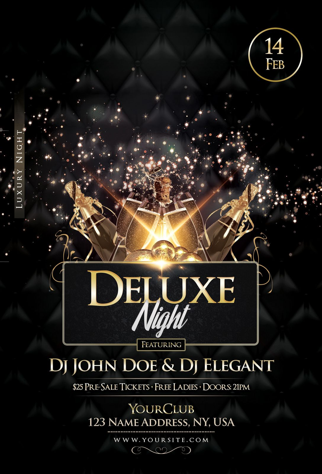 Deluxe Night Luxury Elegant Flyer Flyers And Posters Psd