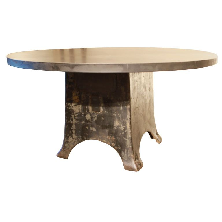 Industrial Round Table Modern Dining Room Tables Table Dining