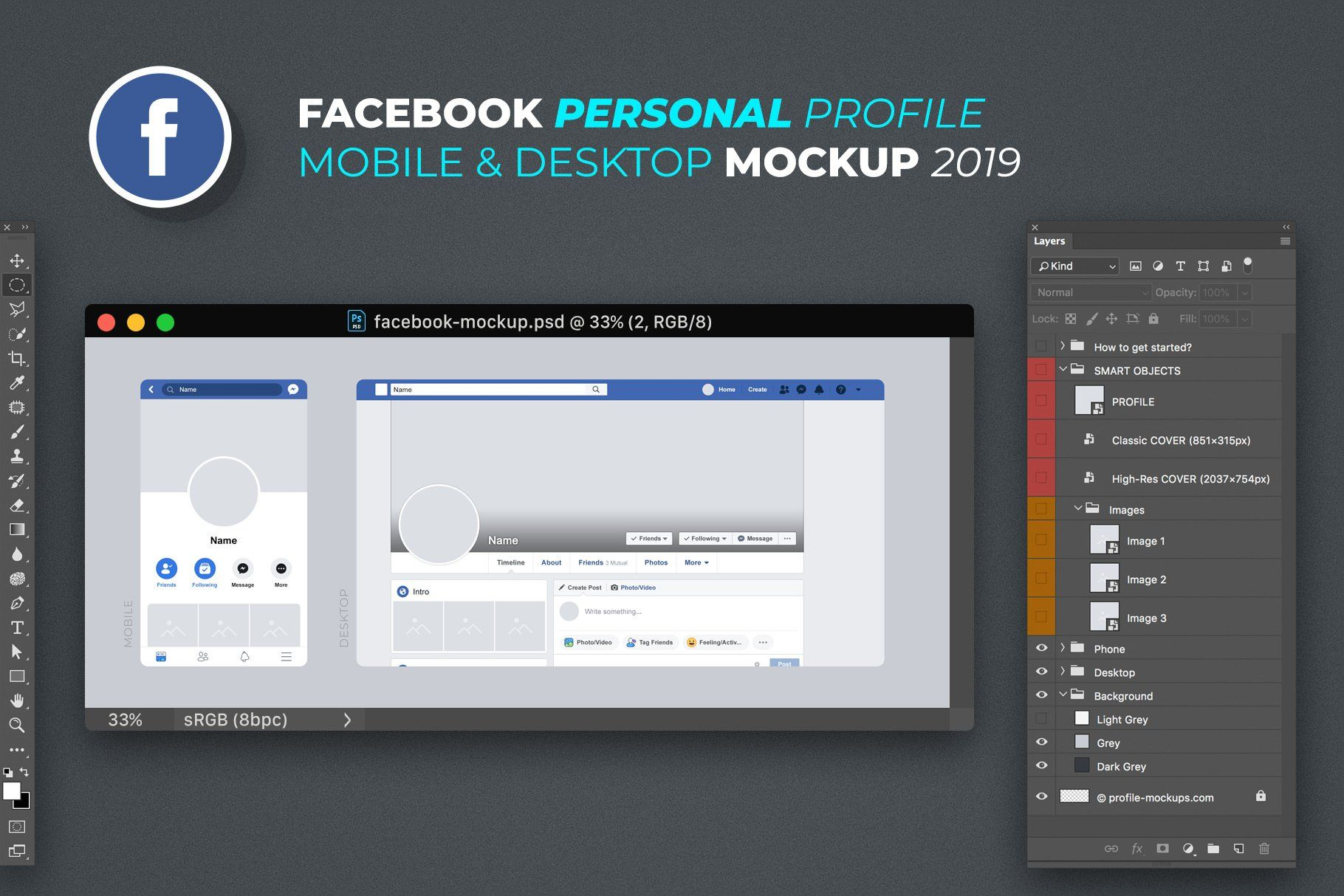 Facebook Personal Profile Mockup Facebook Business Pinterest For Business Write An Email