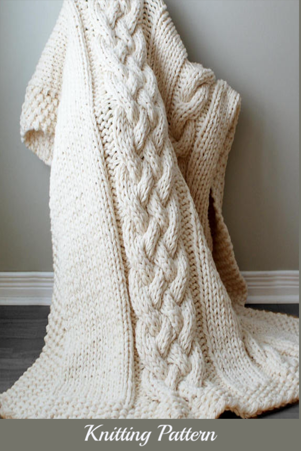 This blanket is absolutely gorgeous! DIY Knitting PATTERN ...