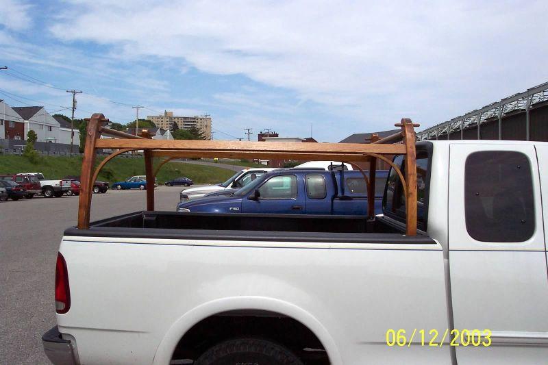 Wooden Truck Rack Canoe Rack Wooden Truck Truck Bed