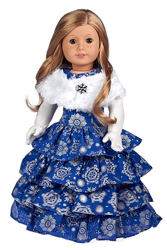 Emily Rose 18 Inch Doll ClothesBall Gown Pageant Doll Dress with Miss Sash