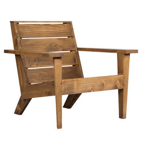 Modern Cedar Wood Adirondack Chair  Outdoor Furniture