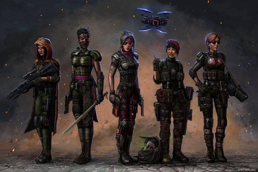 Xcom The Pink Squad 2035ad Shadowrun Live Wallpapers Digital Art Girl