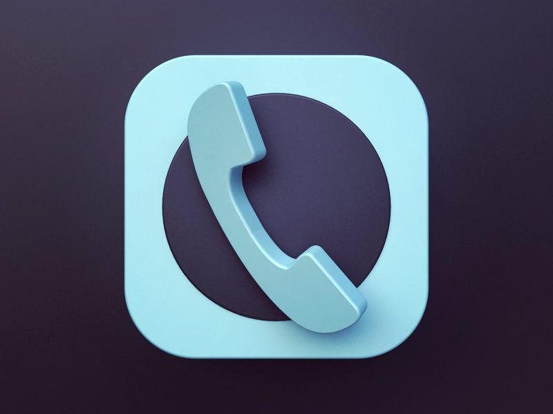 Dialer icon app icon design icon design icon