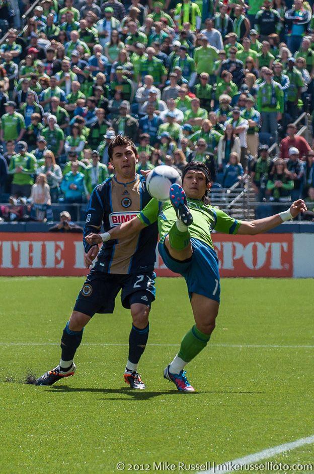 Fredy Montero and Michael Farfan Sounders, Seattle