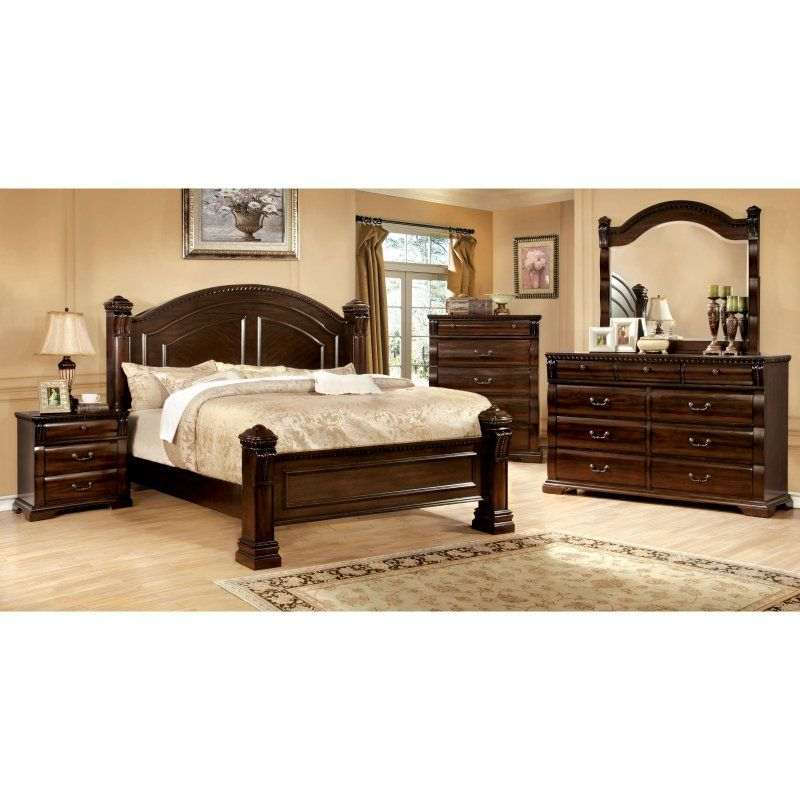 Furniture of America Agostini Poster Bed Set in 2018 Products