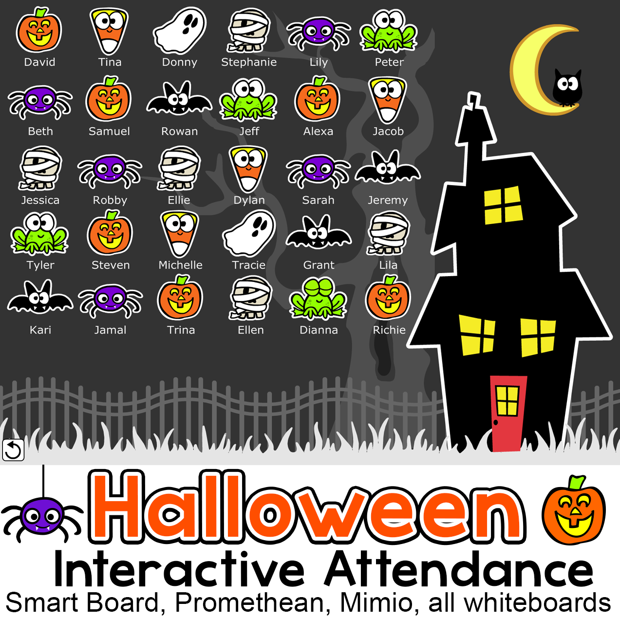 Halloween Activities Interactive Attendance With Lunch