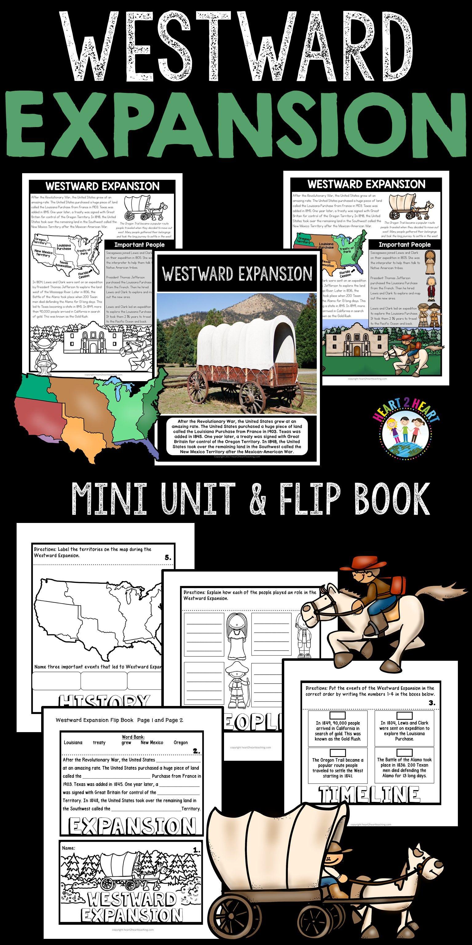 Westward Expansion Activities A Mini Unit Amp Flip Book