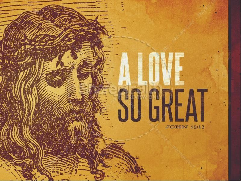 This sermon PowerPoint features an image of Jesus wearing the crown of thorns, right before His crucifixion. This Good Friday, remember that His love is a love so great with sacrifice for the sins of the world. #Sharefaith #Easter #EasterMedia #Faith #ChurchMedia