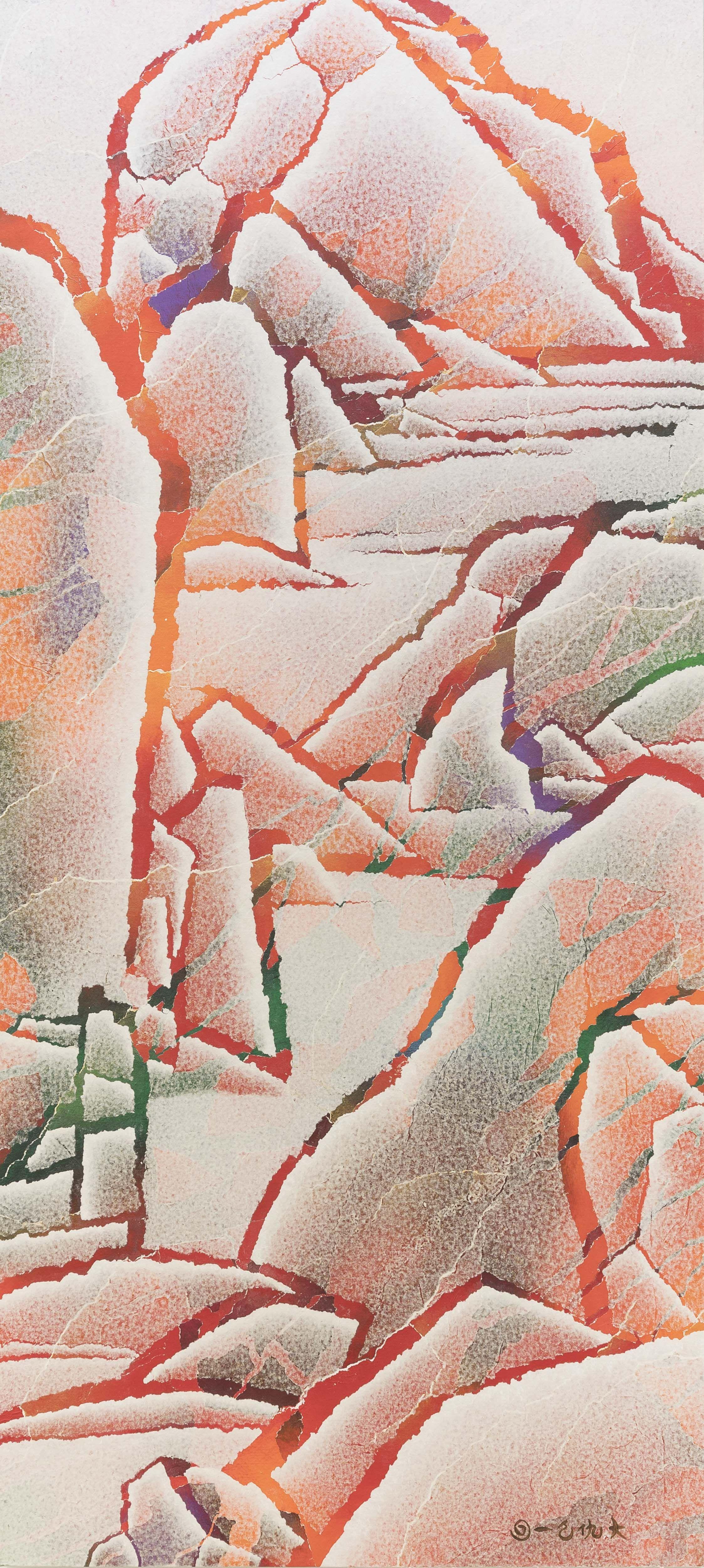 Qiu Deshu Fissuring Landscape No 5 Art Basel Art Painting Art Painting