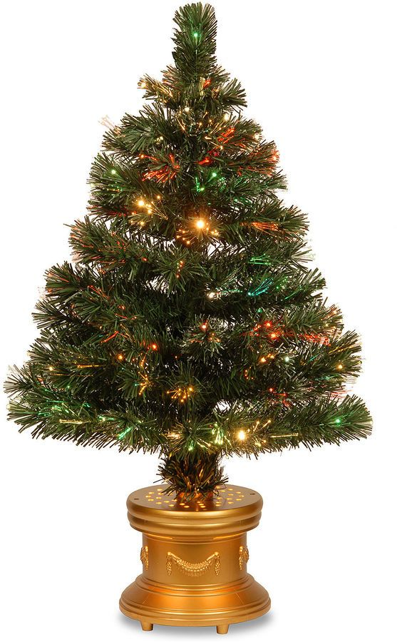 national tree co national tree co 3 foot radiance pre lit christmas tree