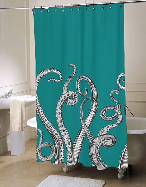 Octopus Tentacle Shower Curtain Fresh Bathroom Idea For Your Interior Beauty Customized A Special