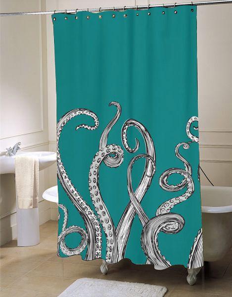 Octopus Tentacle Shower Curtain Fresh Bathroom Idea For Your Bathroom Interior Beauty Customized A Special Octopus
