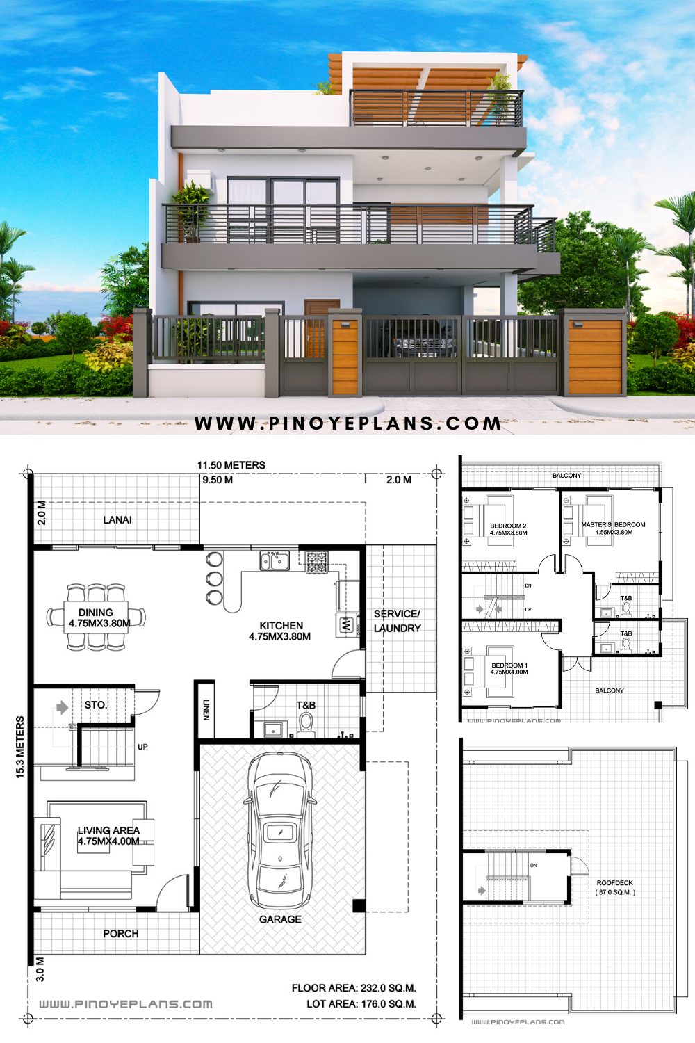 Pin On 3 Bedroom House Concepts