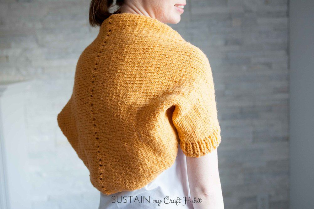 Simple Sunrise Shrug Free Knitting Pattern Pinterest Knit Shrug
