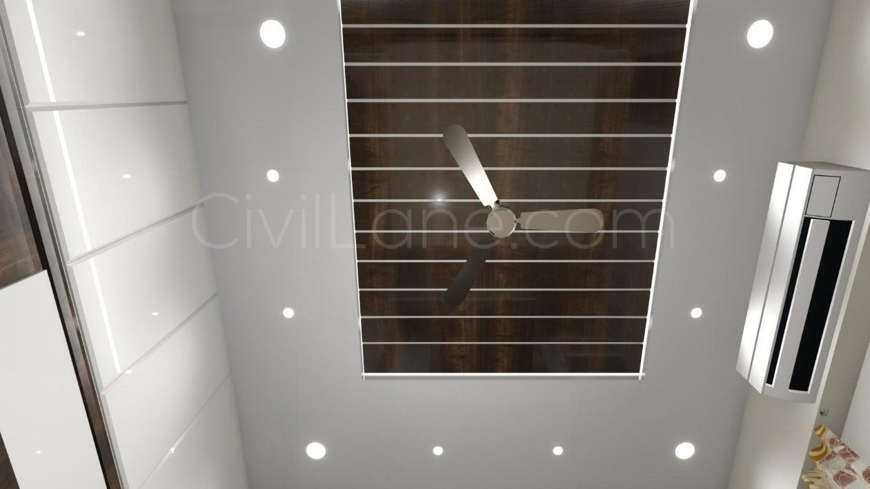 Wooden and gypsum board false ceiling combination | Modern ...