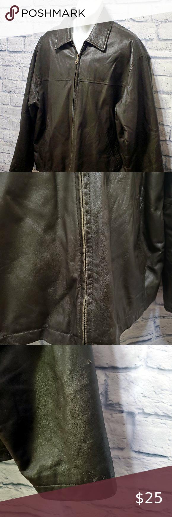 Jf J Ferrar Dark Brown Genuine Leather Jacket Genuine Leather Jackets Leather Jacket Genuine Leather